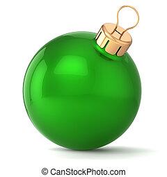Christmas ball green New Years Eve
