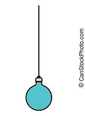christmas ball hanging isolated icon