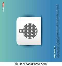 Christmas Ball Icon - Blue Sticker button