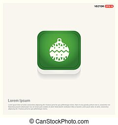 Christmas Ball Icon Green Web Button