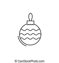 christmas ball icon in line art style. Vector illustration esp 10