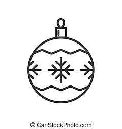 Christmas ball icon Isolated on white background.