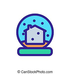 Christmas ball icon vector. Isolated contour symbol illustration