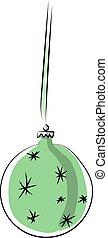 Christmas ball, illustration, vector on white background.