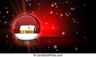 Christmas Ball in Red Tone