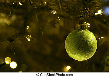 Christmas ball in tree