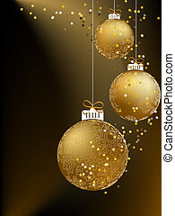 Christmas ball made from a golden snowflakes. + EPS8