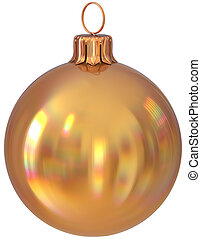 Christmas ball New Year's Eve bauble golden decoration shiny