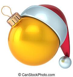 Christmas ball New Years Eve gold - Christmas ball Happy New...
