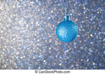 Christmas ball on a blue background5
