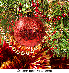 Christmas ball on a Christmas tree