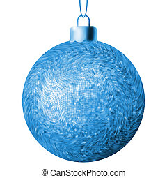 Christmas ball on a white background. EPS 8