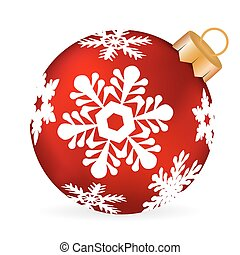 Christmas ball on a white background