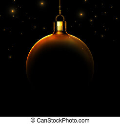 Christmas ball on black background, eps 10