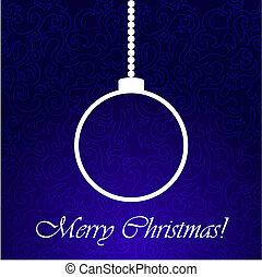 Christmas ball on blue back ground. - Christmas blue...