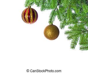 Christmas ball on fir tree