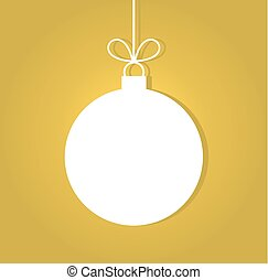 Christmas ball on gold background