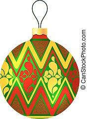 Christmas ball on white background. Vector illustration
