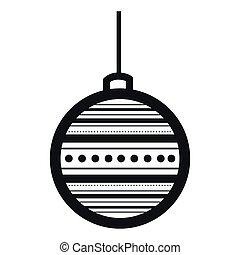 Christmas ball outline
