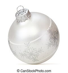Christmas ball over white