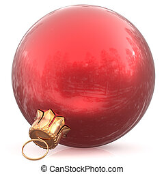 Christmas ball red hanging bauble New Year's Eve decoration