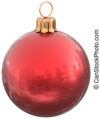 Christmas ball red New Year's Eve bauble decoration classic
