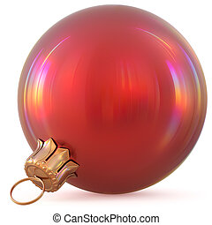 Christmas ball red New Year's Eve decoration bauble modern
