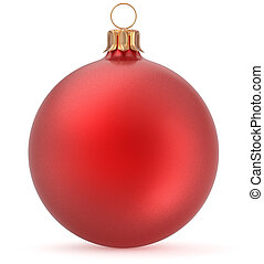 Christmas ball red New Year's Eve decoration hanging bauble