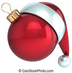 Christmas ball Santa Claus hat Xmas - Christmas ball Happy...