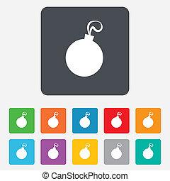 Christmas ball sign icon. Holidays button.