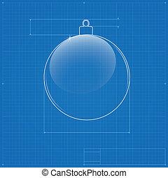 Heart symbol like blueprint drawing stylized drafting of vector christmas ball symbol like blueprint drawing malvernweather Gallery