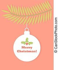 Christmas ball tag