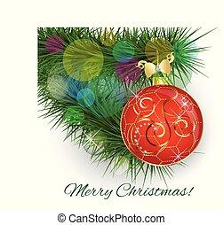 Christmas ball tree vector