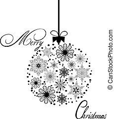 vector Christmas ball snowflake