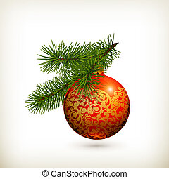 Christmas ball, vector