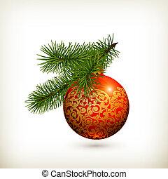 Christmas ball, vector