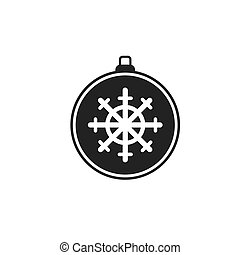Christmas ball vector flat on white background