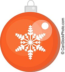 Christmas ball vector icon. Isolated on white background.