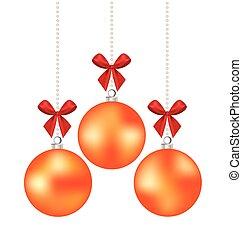 Christmas ball. Vector illustration