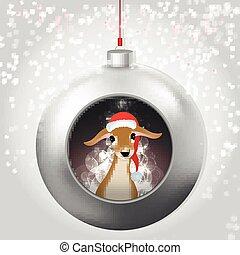 Christmas Ball with baby deer