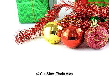 Christmas ball with christmas decoration