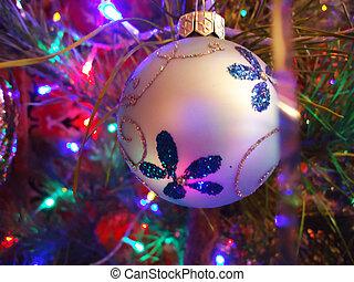 Christmas ball with lights