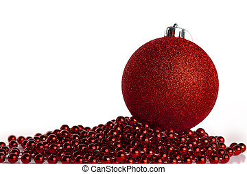 Christmas ball with red beads