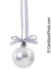 Christmas ball with ribbon