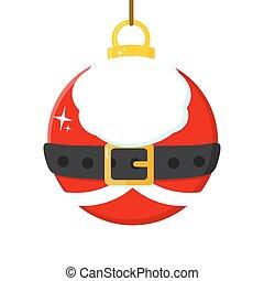 Christmas Ball With Santa Claus Costume