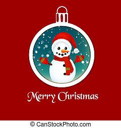 Christmas ball with snowman