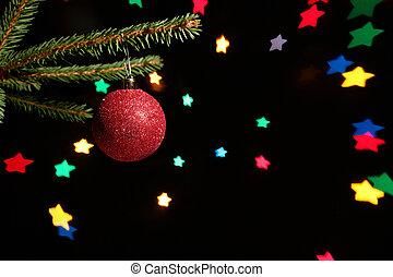 Christmas ball with stars - Christmas ball (background made...