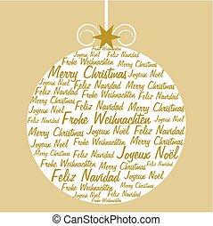Christmas ball with text