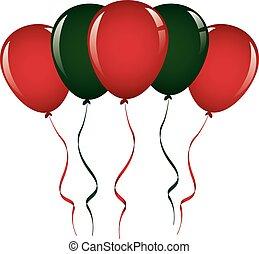 Christmas Balloon Ribbon