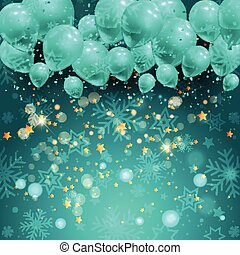 christmas balloons background 1411